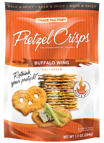 Buffalo Wings Pretzels  - 7.2oz (c/12pzs)