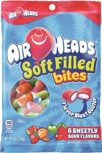 Airheads Bites Soft Filled - 6oz (c/12 pzs)