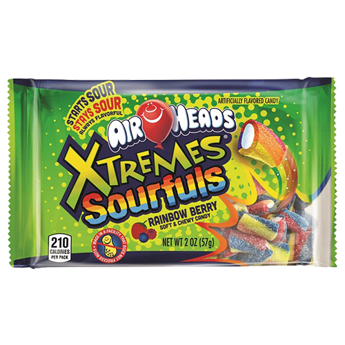 Airheads Xtreme Sourfuls Rainbow Berry - 2oz (c/18 pzs)