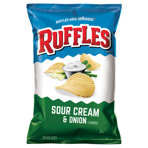 Ruffles Sour Cream & Onion - 6.5oz. (c/15pzs)