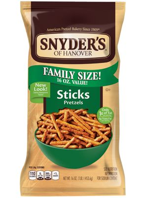 Sticks Pretzel - 9oz. (c/12pzs)