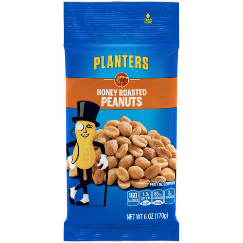 Honey Roasted Peanuts - 6oz. (c/12pzs)