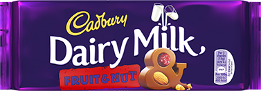 Dairy Milk Fruit & Nut Bar - 120gr. (c/14pzs)