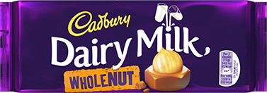 Dairy Milk Whole Nut Bar - 120gr. (c/16pzs)