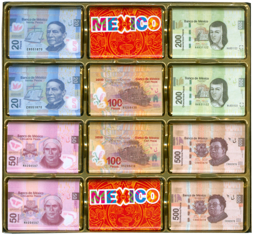 Souvenir Billetes Mexico 24 Chocolates - (c/6pzs)