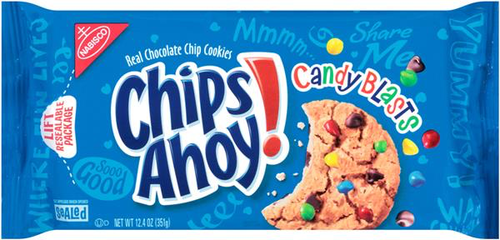 Chips Ahoy Candy Blast - 12.4oz (c/12pzs)