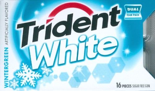 Trident White Wintergreen Gum - 16 Stick (c/9pzs)