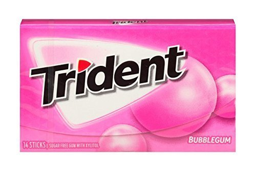 Trident Bubble Gum - 18 Stick (c/12pzs)