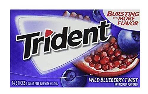 Trident Wild Blueberry Twist Gum - 18 Stick (w/12pcs)