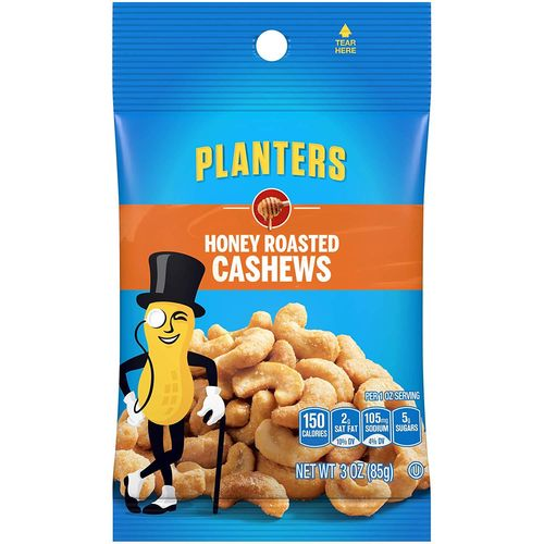 Honey Roasted Cashews - 3oz (c/12pzs)