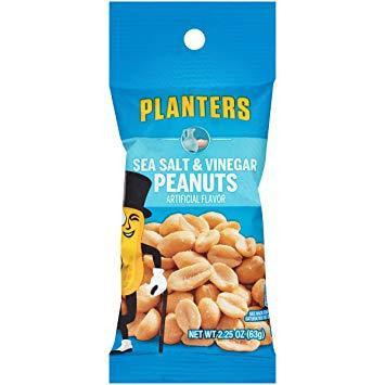 Sea Salt & Vinegar Peanuts - 2.25oz (c/10pzs)
