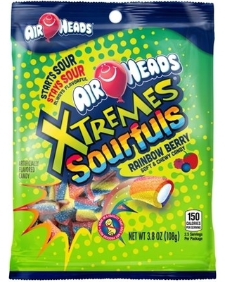 Airheads Xtreme Sourfuls Rainbow Berry - 6oz (c/12 pzs)
