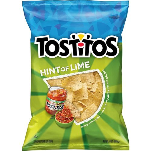 Tostitos Hint of Lime - 10oz (c/6pzs)